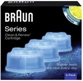 Braun Electric Shaver Clean & Charge Refill - Pack of 3