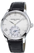Frederique Constant Men's 'Horological Smart' Swiss Quartz Stainless Steel and Leather Casual Watch, Color:Silver-Toned (Model: FC-285S5B6)