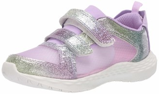 Carter's Girls' Berlin 2 strap hook and loop slip on light weight sheer mesh athletic shoe Sneaker