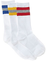 Class Club 3-Pack Striped Athletic Crew Socks
