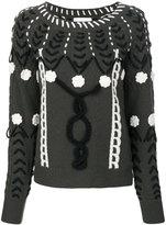 Michel Klein stitch patterned sweater
