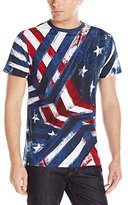 Akademiks Men's Ceremony Allover Americana T-Shirt (Various Sizes Including Big and Tall)