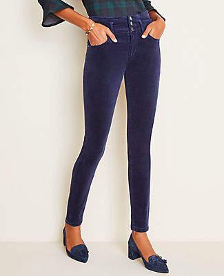 Ann Taylor Tall High Rise 5-Pocket Velvet Pants