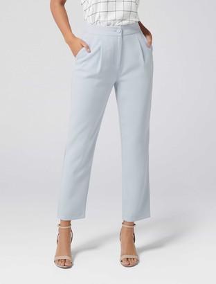 Forever New Pamela Button Detail Peg Leg Pants - Powder Blue - 16