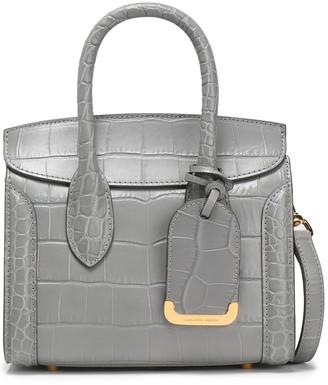 Alexander McQueen Heroine Croc-effect Leather Shoulder Bag