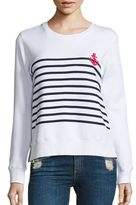 Sundry Stripes & Anchor Double Zip T-Shirt