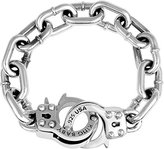 King Baby Studio Men's Large Handcuff Clasp 925 Sterling Silver Bracelet of 22 cm