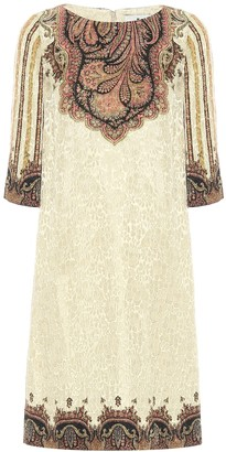 Etro Paisley lame jacquard shift dress