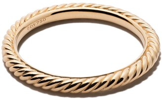 David Yurman 18kt yellow gold Cable Classics band
