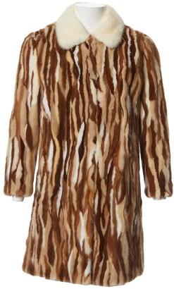 Miu Miu Beige Mink Coat for Women