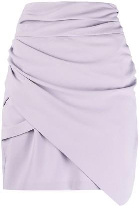 IRO Lannie wrap mini skirt