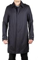 Prada Men's Polyamide Viscose Waterproof Trench Rain Coat Jacket Dark Navy.