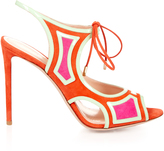 Nicholas Kirkwood Outliner suede and patent-leather sandals