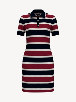 Tommy Hilfiger Essential Ribbed Stripe Polo Dress