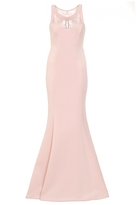 Quiz Pink Lace Back Fishtail Maxi Dress