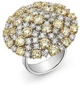 Roberto Coin White & Yellow Diamond Cluster Ring in 18K Yellow & White Gold