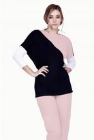 Select Fashion Fashion Womens Pink 3/4 Sleeve Colour Block Panel - size 10