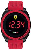 Ferrari Mens Scuderia Aero Touch Black Steel Red Silicone Strap Watch