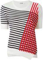 Jil Sander striped asymmetric sweater - women - Silk/Spandex/Elastane/Cashmere - 38