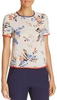 Armani Collezioni Floral-Print Silk Top