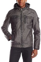 ProjekRaw Projek Raw Men's Distressed Jacket with Removable Hood
