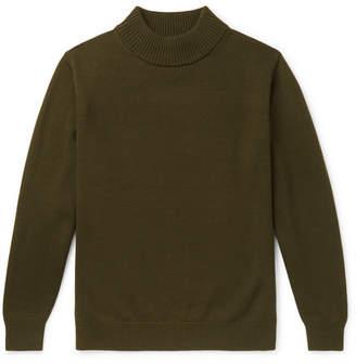 Camoshita Wool Mock-Neck Sweater
