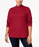 Karen Scott Plus Size Mock-Neck Top, Only at Macy's