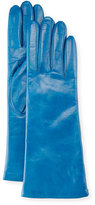 Portolano Napa Leather Gloves, Mineral Blue