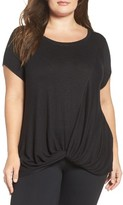 Zella Plus Size Women's Twisty Turn Tee
