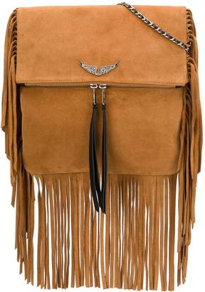 Zadig & Voltaire Rockson fringes crossbody bag