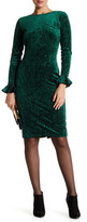 Alexia Admor Velvet Bell Sleeve Bodycon Dress