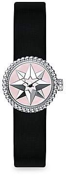 Christian Dior Women's La D de Satin, Mother-Of-Pearl & Stainless Steel Star Watch