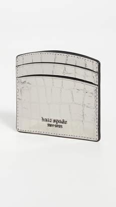 Kate Spade Sylvia Croc Embossed Card Holder