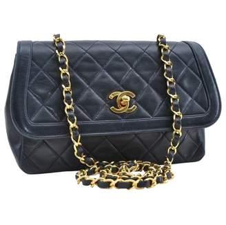 Chanel \N Navy Leather Handbags