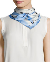 Vince Camuto Dot-Print Satin Triangle Scarf