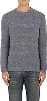 Barneys New York Men's Mixed-Stitch Cashmere Sweater-GREY