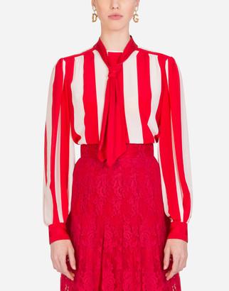 Dolce & Gabbana Striped Crepe De Chine Blouse