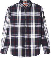 Joe Fresh Men's Standard Fit Plaid Shirt, JF Midnight Blue (Size S)