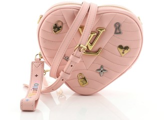 Louis Vuitton New Wave Heart Crossbody Bag Limited Edition Love Lock Quilted Leather
