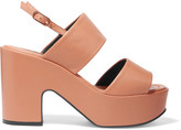 Robert Clergerie Emple Leather Platform Sandals - Tan