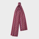Paul Smith Women's Damson Polka-Stripe Cotton-Blend Scarf