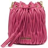 Miu Miu Magenta Matelasse Leather Bucket Bag