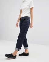 Weekday Ami Crop Boyfriend Jeans in Raw Denim