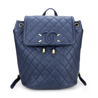 Chanel Navy Leather Backpacks