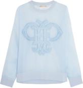 Emilio Pucci Embroidered organza sweatshirt
