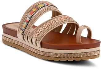 Spring Step Patrizia by Crystal Detail Slide Sandals - Bugmadi