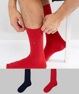 Tommy Hilfiger Classic 2 Pack Sock In Red and Blue
