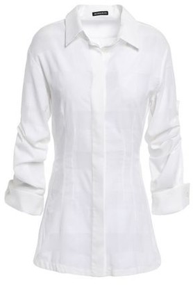 Ann Demeulemeester Checked Cotton-gauze Shirt