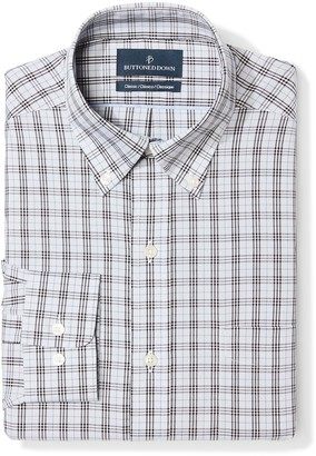 Buttoned Down Classic Fit Button Collar Pattern Dress Shirt