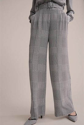 Witchery Check Wide Leg Pant